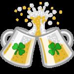 Irish beer clinking