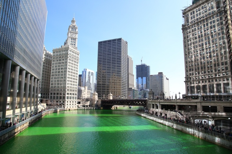 St Patricks Day - Chicago river