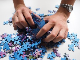Puzzle - beginning all pieces