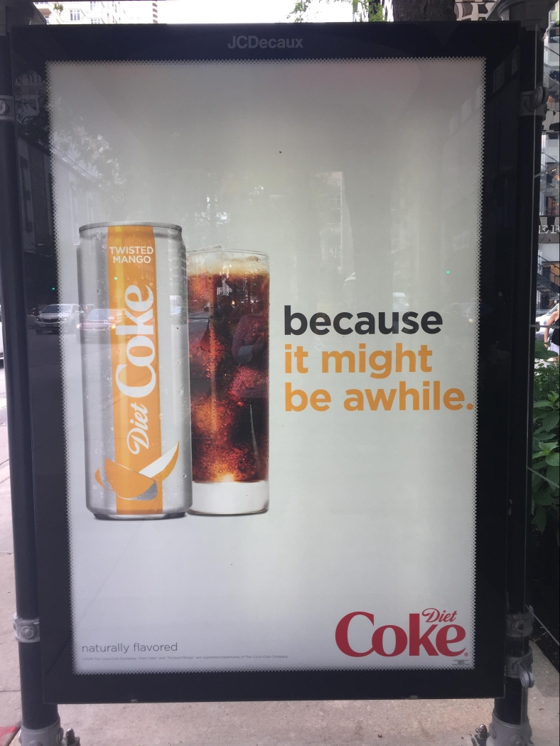 Coke Ad - It might be a while