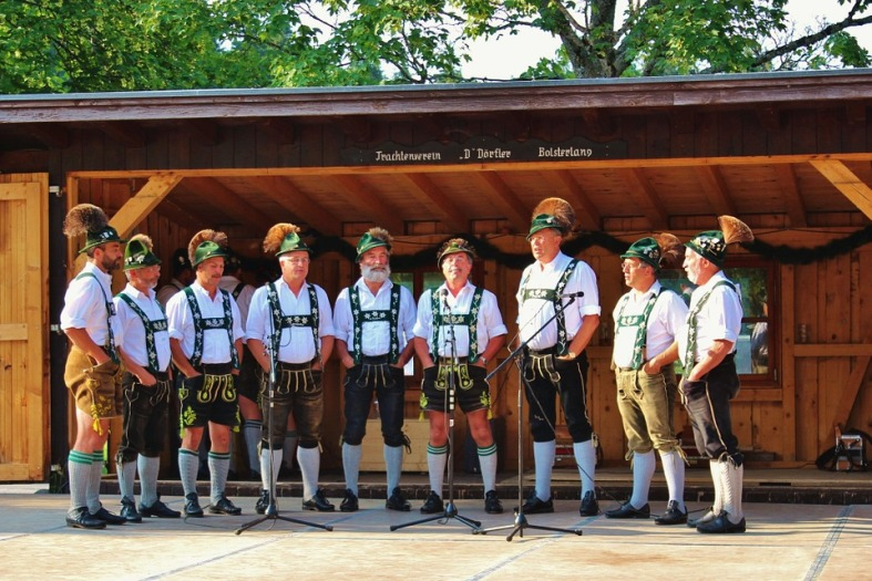 Lederhosen group of men
