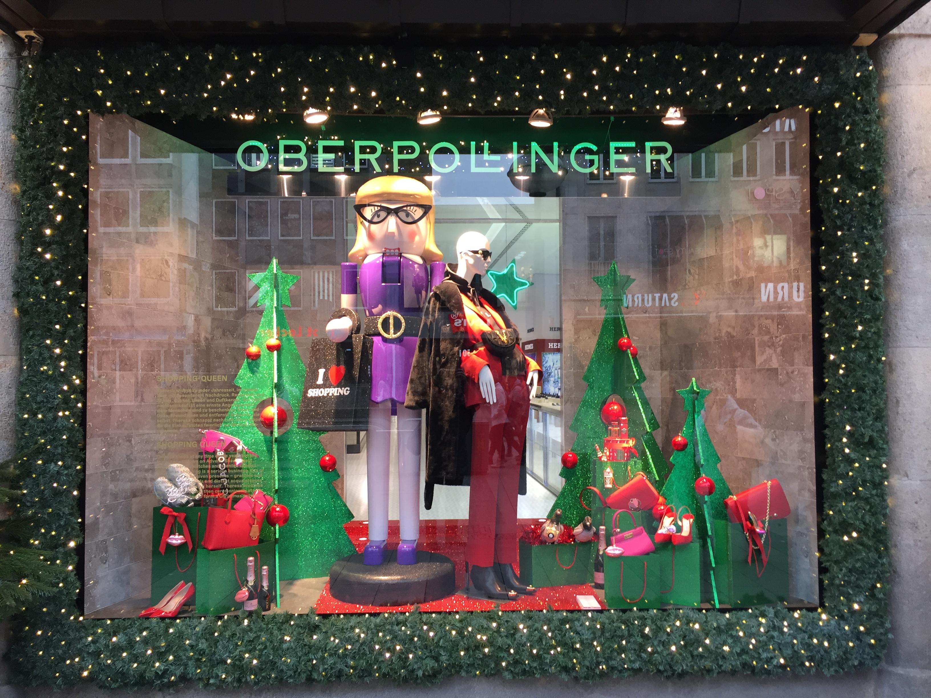 Munich — Department Store Holiday Window Decorations