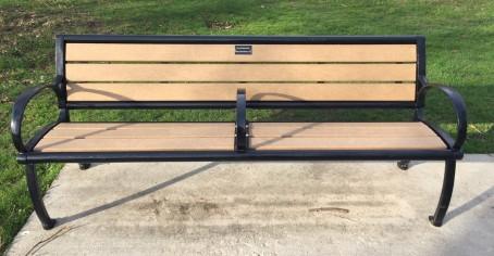 park bench long